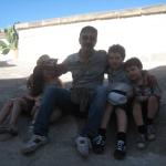 Famiglia australiana visita Matera