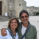 Signora americana in visita a Matera