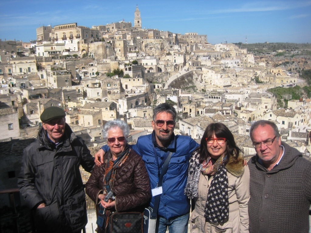 Maria Grazia from Martina Franca with her husband and friends from Vittorio