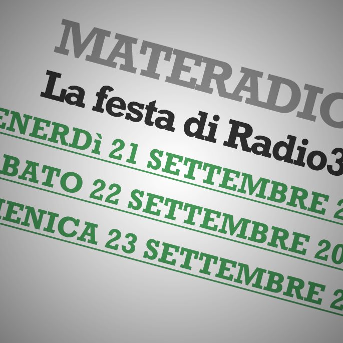 Turn on the radio … and Matera is on.