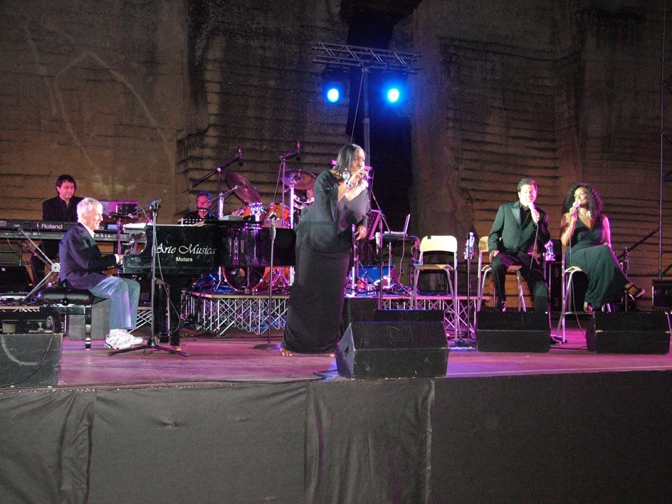 The concert of Burt Bacarach on 20th July 2009 at Cava del Sole in Matera