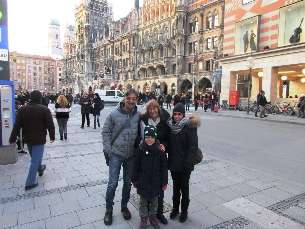 Nel centro di Monaco con Astrid e la mai famiglia